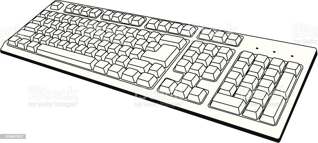 Computer Keyboard with no letters royalty-free stock vector art