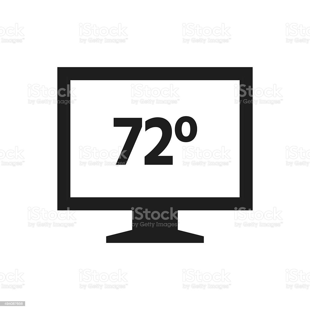 Computer Monitor icon on a white background. - SingleSeries royalty-free computer monitor icon on a white background singleseries stock vector art & more images of 2015