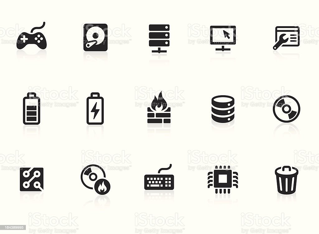 Computer Network icons vector art illustration