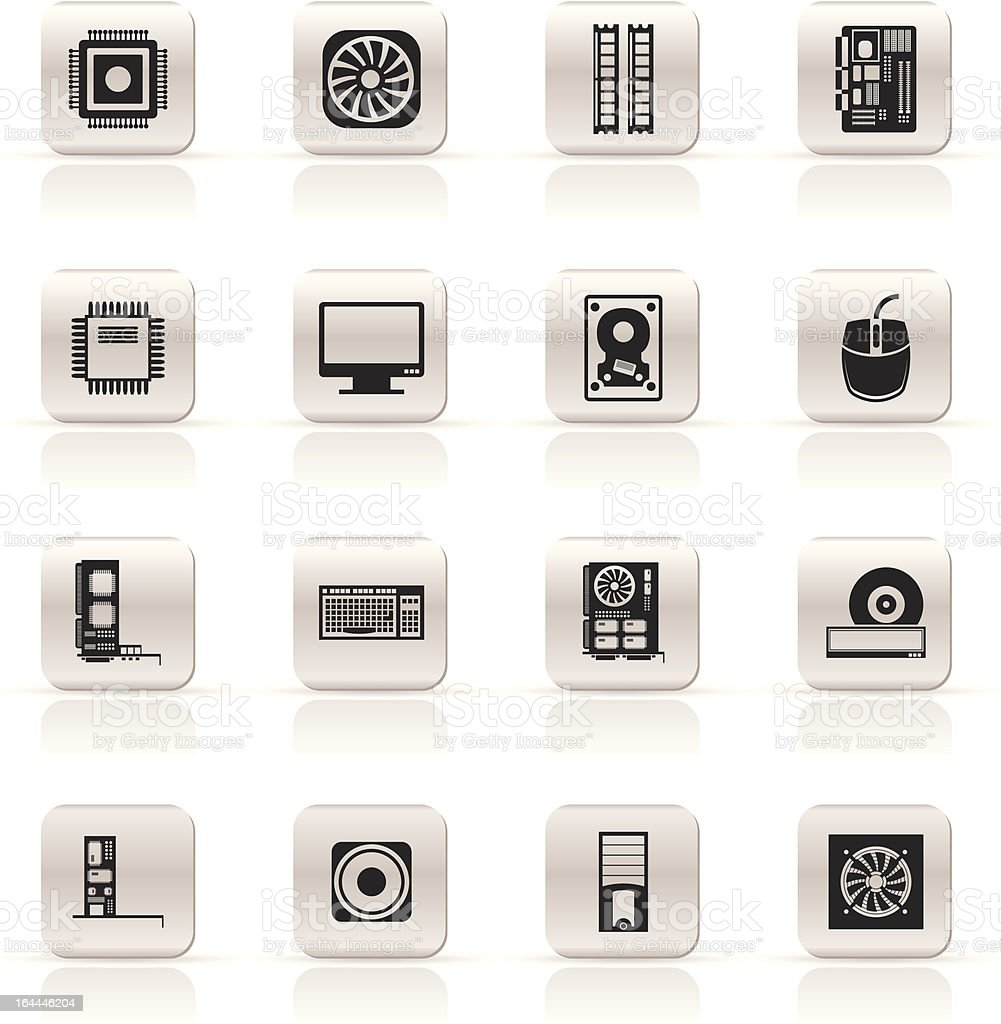 Computer  performance and equipment icons royalty-free computer performance and equipment icons stock vector art & more images of abstract