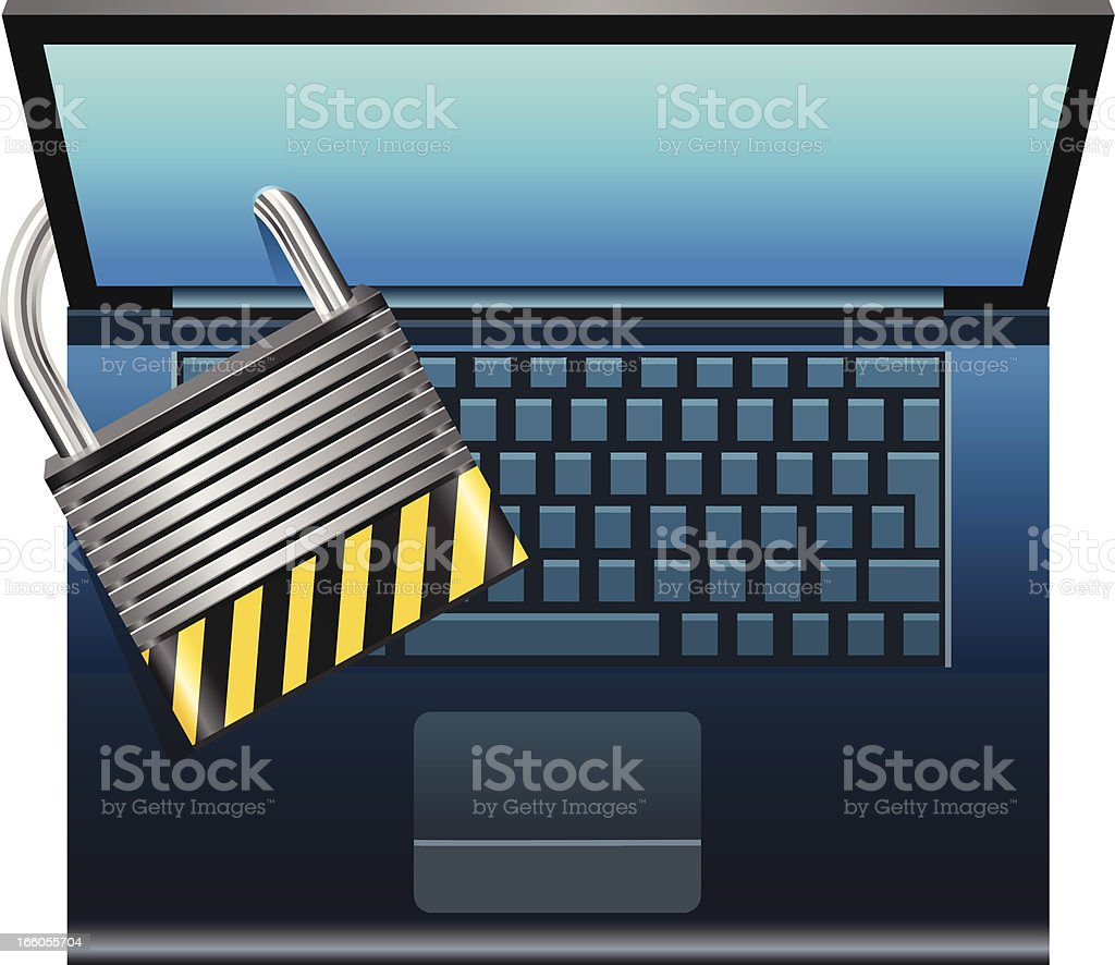 Computer Security royalty-free stock vector art