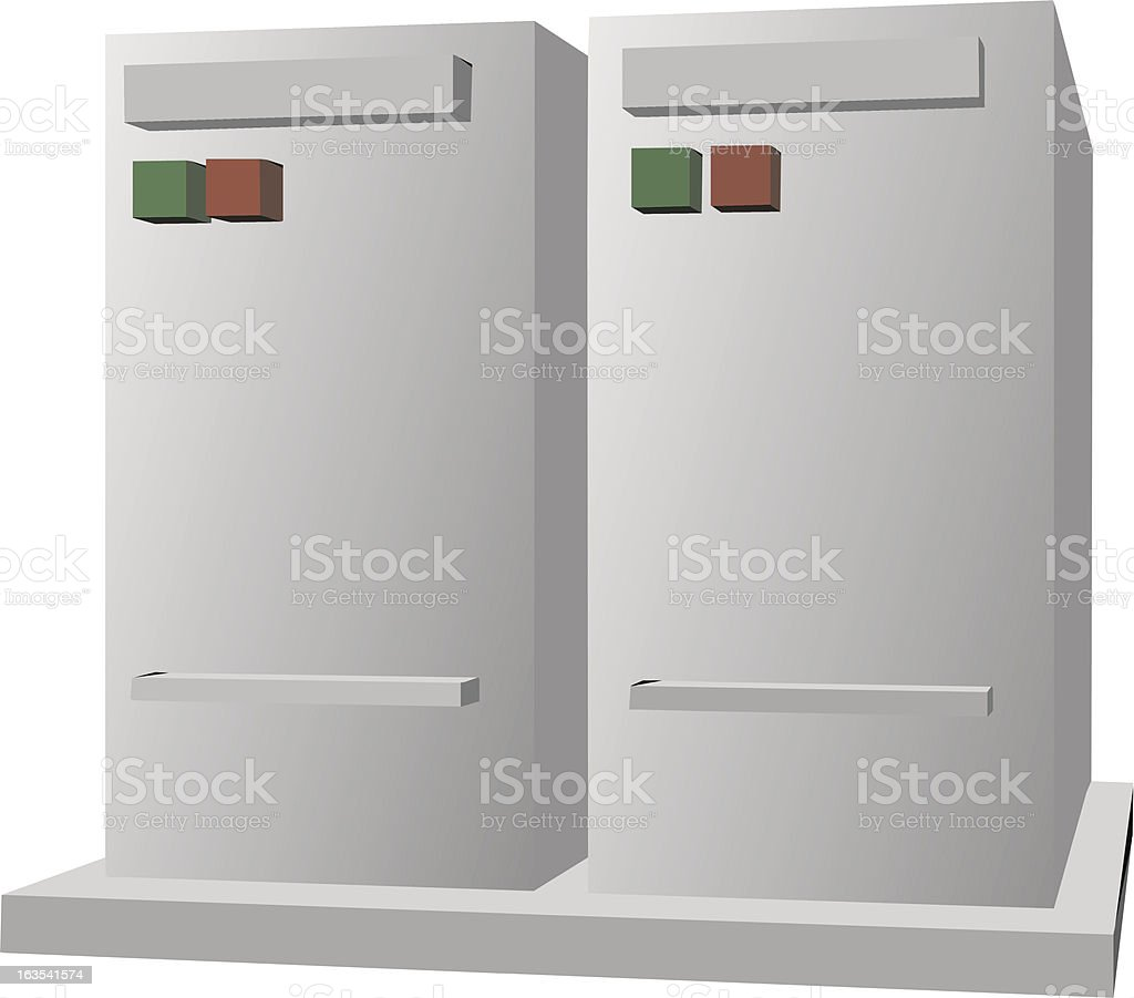 Computer servers royalty-free stock vector art