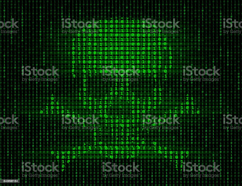 Computer Virus vector art illustration