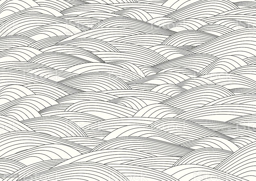 Concentric waves vector art illustration