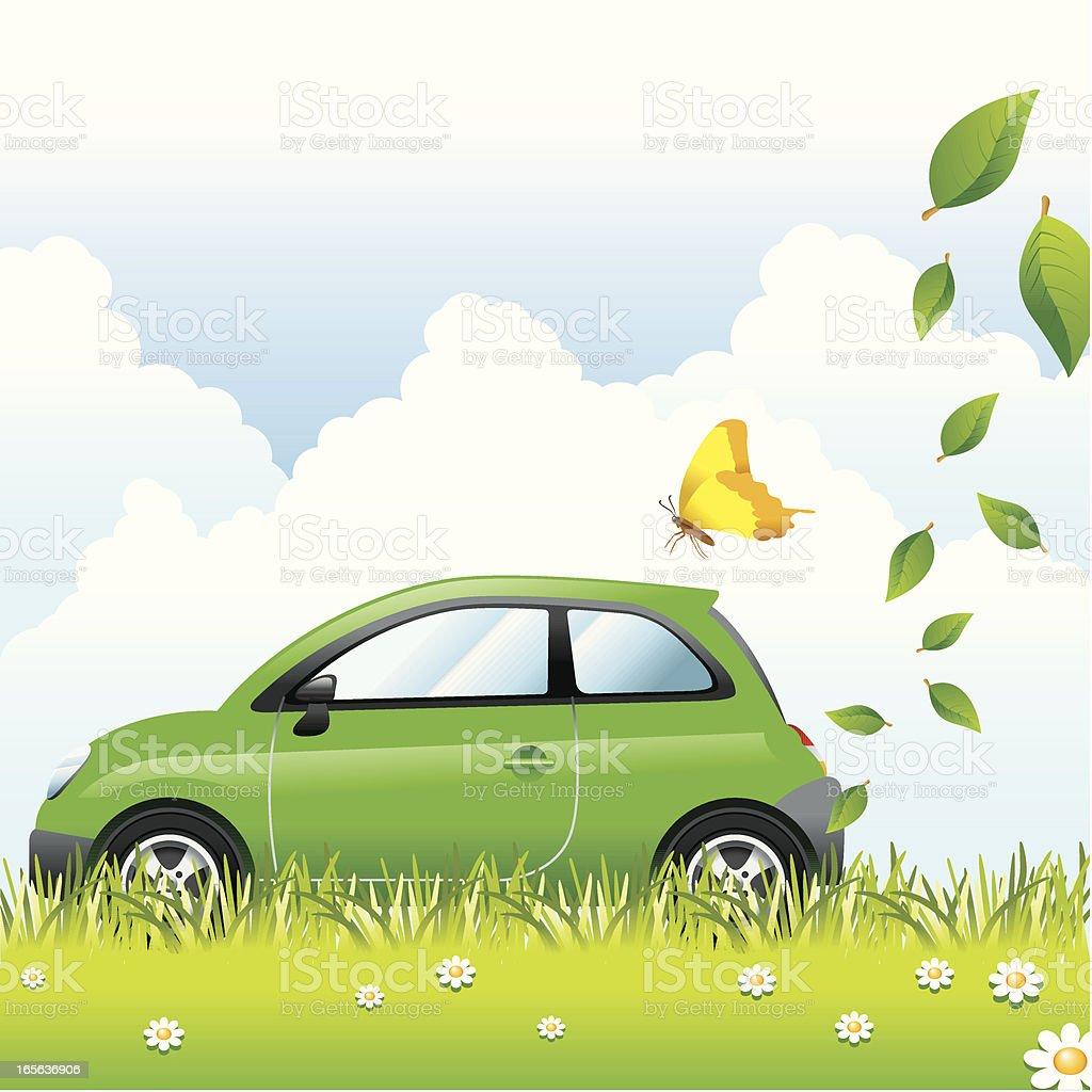 Concept, Ecology Car vector art illustration