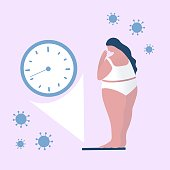 istock Concept For The Future After Coronavirus, Machine, Device, Weight, Women, Life. 1226853275
