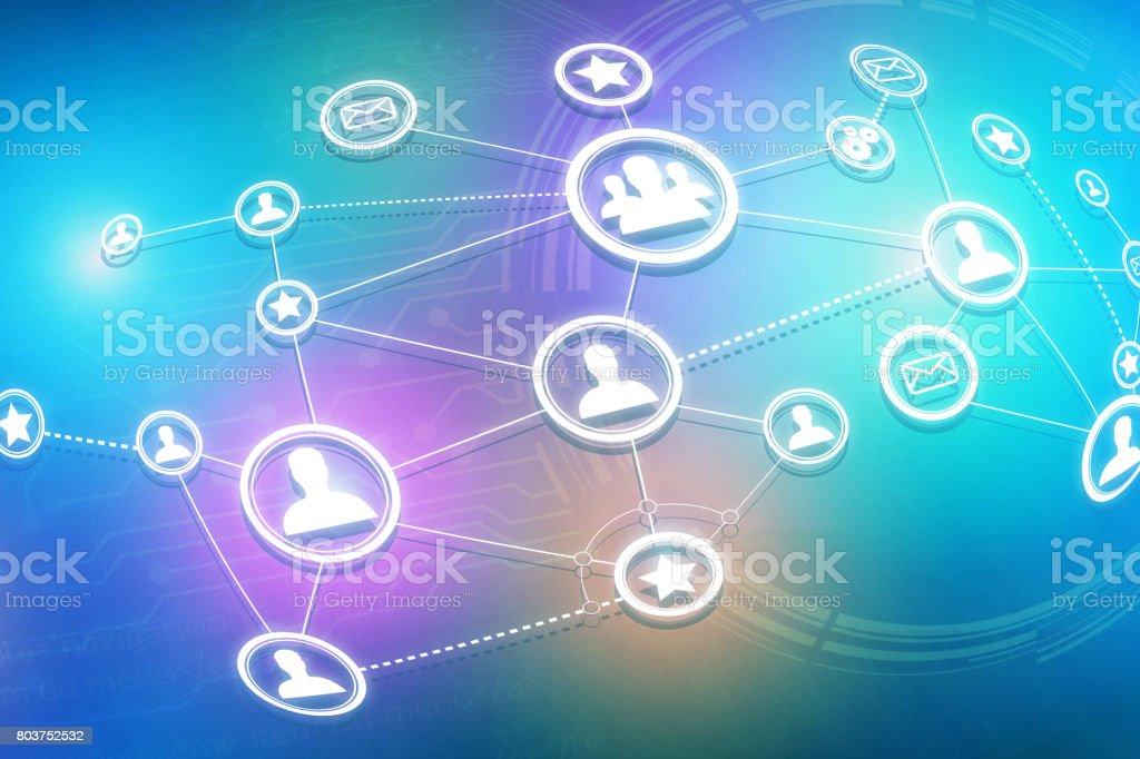 Concept of business international network interface - Technology concept vector art illustration