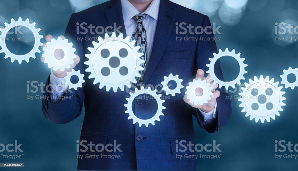 Concept of management and business management. vector art illustration