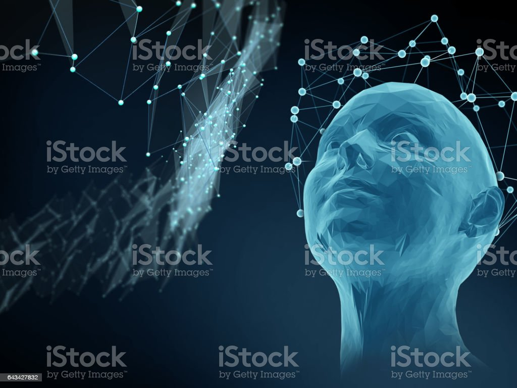 concept of mind, science and thoughts vector art illustration