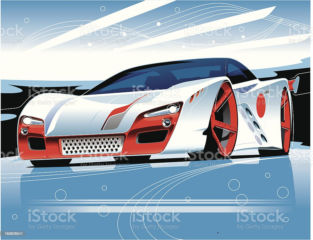 Concept Race Car vector art illustration