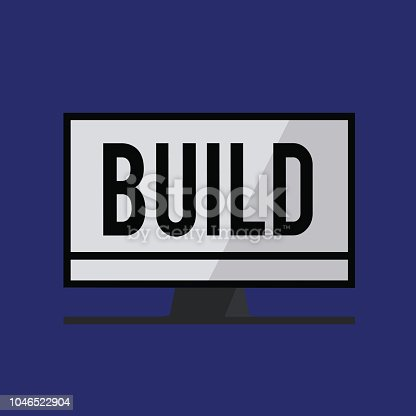 Conceptual hand writing showing Build. Business photo text Construct something by putting material together over a period of time.