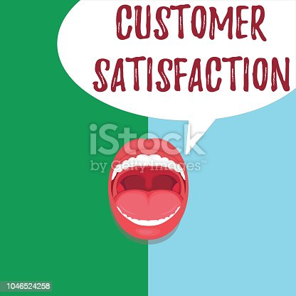 Conceptual hand writing showing Customer Satisfaction. Business photo text Exceed Consumer Expectation Satisfied over services.