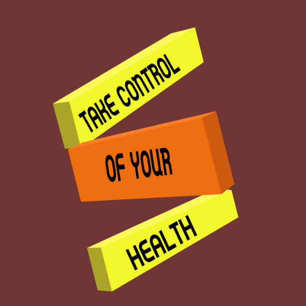 Conceptual hand writing showing Take Control Of Your Health. Business photo text Balance Life integrate Wellness and Fitness Conceptual hand writing showing Take Control Of Your Health. Business photo text Balance Life integrate Wellness and Fitness. biofeedback stock illustrations