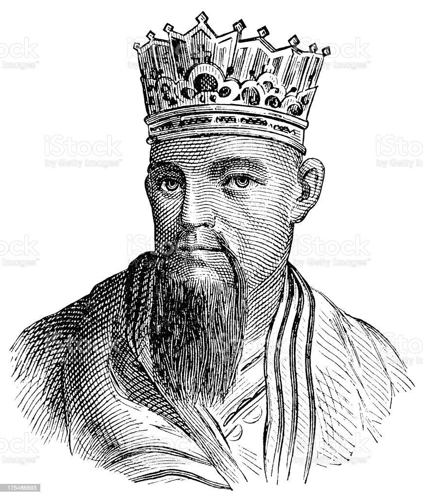 Confucius royalty-free stock vector art