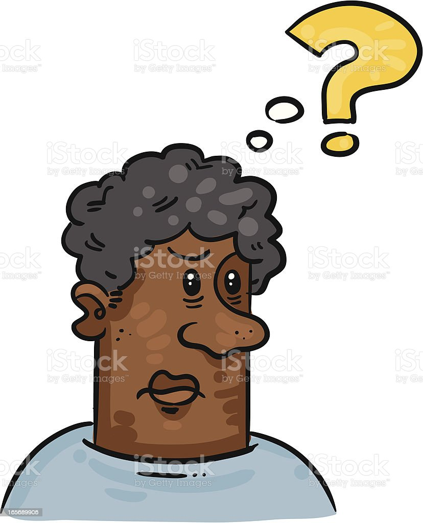 Confused guy royalty-free stock vector art