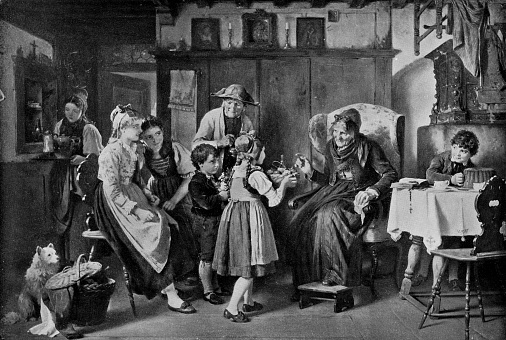 Congratulations by Ludwig Vollmar - 19th Century