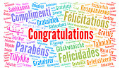 istock Congratulations in different languages word cloud 1292426980