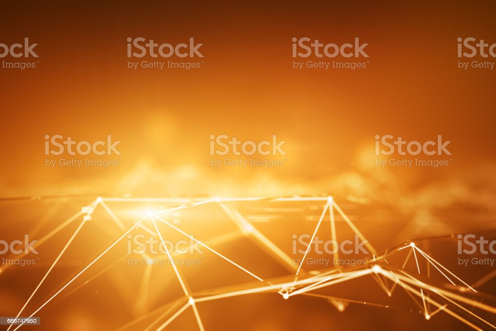 Connected orange points connected orange points - immagini vettoriali stock e altre immagini di astratto royalty-free
