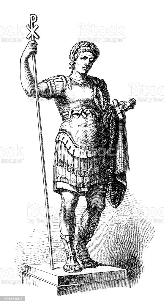Constantine the Great (c.272-337), Roman emperor vector art illustration