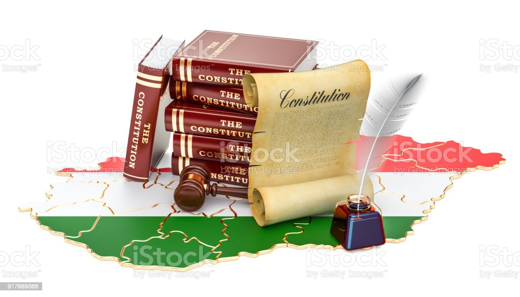 Constitution of Hungary concept, 3D rendering vector art illustration