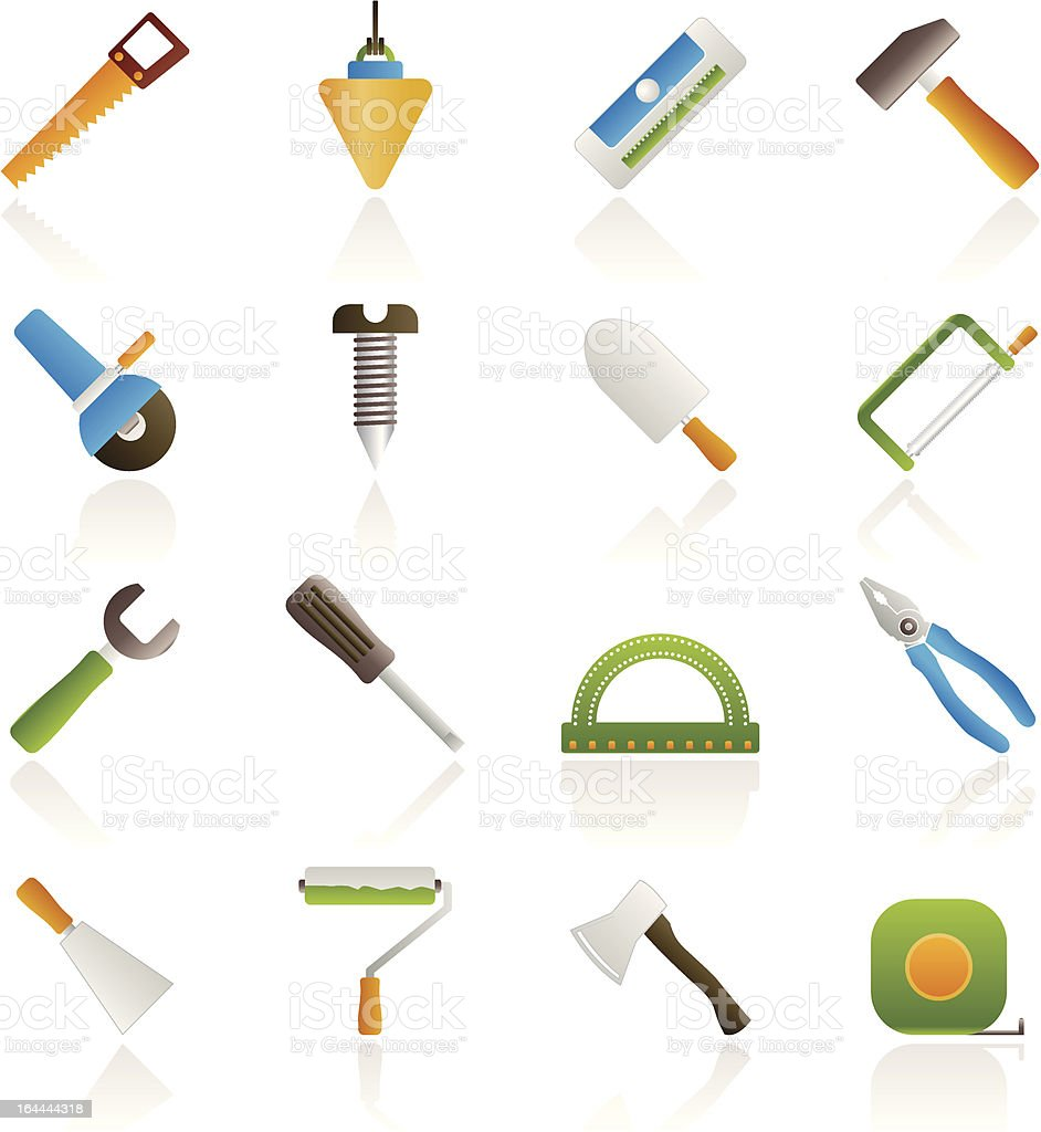Construction and Building Tools icons royalty-free stock vector art