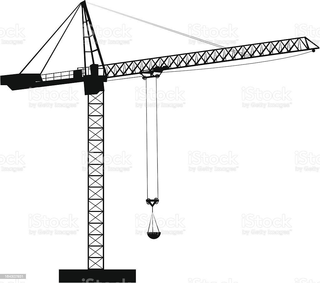 Construction Crane royalty-free stock vector art