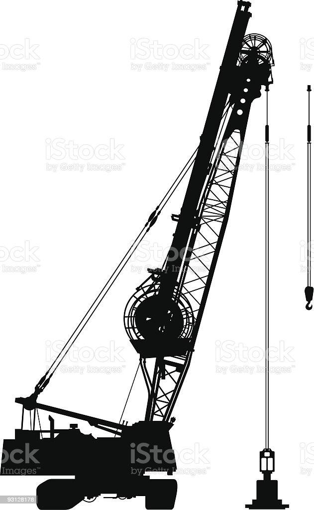 Construction crane royalty-free construction crane stock vector art & more images of black color