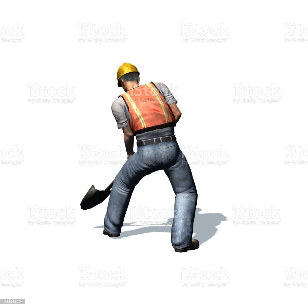 construction laborer with shovel royalty free construction laborer with shovel stock vector art