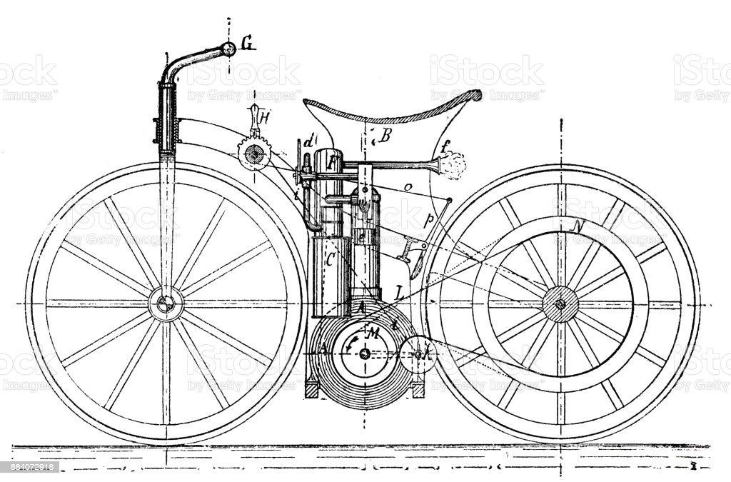 Ilustración de Construcción De Un Vehículo De Carretera O Bicicleta ...