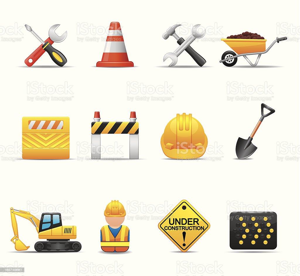 Cantiere di costruzione di set di iconeelegante serie for Cantiere di costruzione