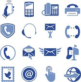 Email and phone icon set. Professional icons for your print project or Web site. See more in this series.