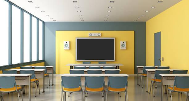 現代の空の教室 - 教室点のイラスト素材/クリップアート素材/マンガ素材/アイコン素材