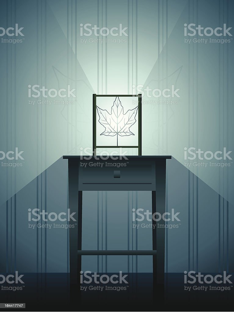 contemporary lamp vector art illustration