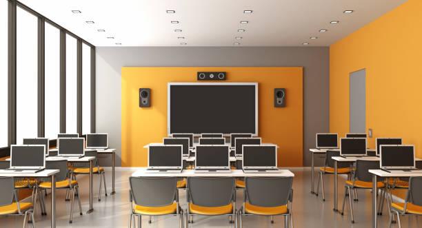 現代のマルチ メディア教室 - 教室点のイラスト素材/クリップアート素材/マンガ素材/アイコン素材