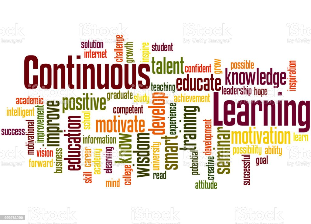 Continuous Learning Word Cloud Concept 6 Stock ...