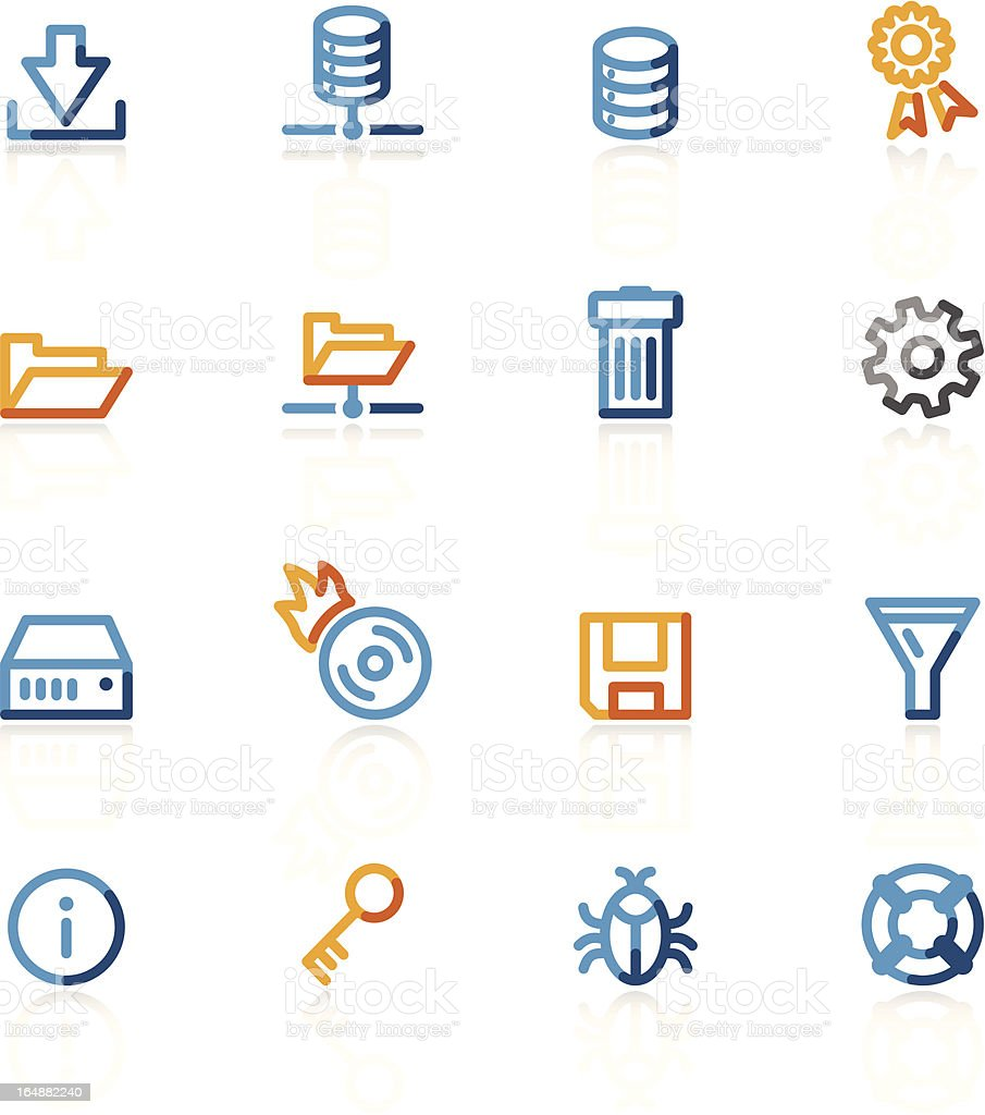 contour database icons royalty-free stock vector art
