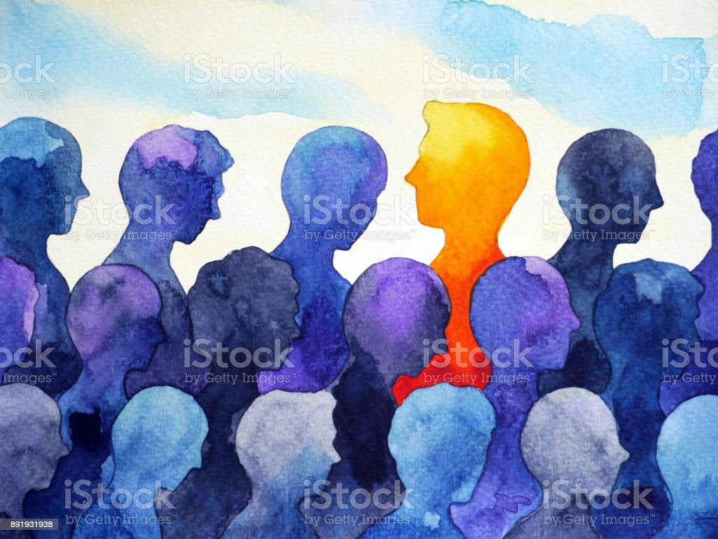 contrast different bright human watercolor painting design vector art illustration