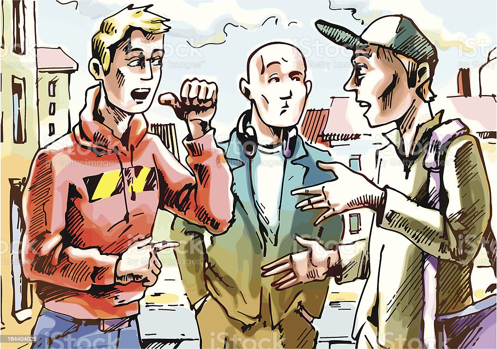 Conversation vector art illustration