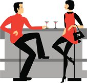 Conversation in a bar