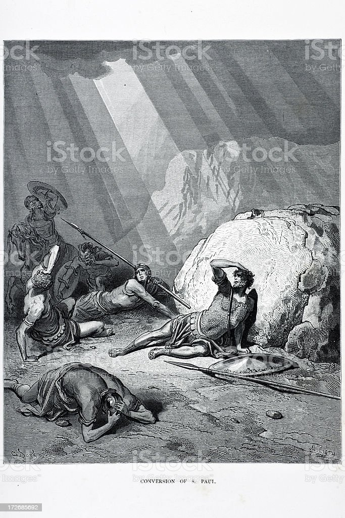 Conversion of Saint Paul royalty-free stock vector art