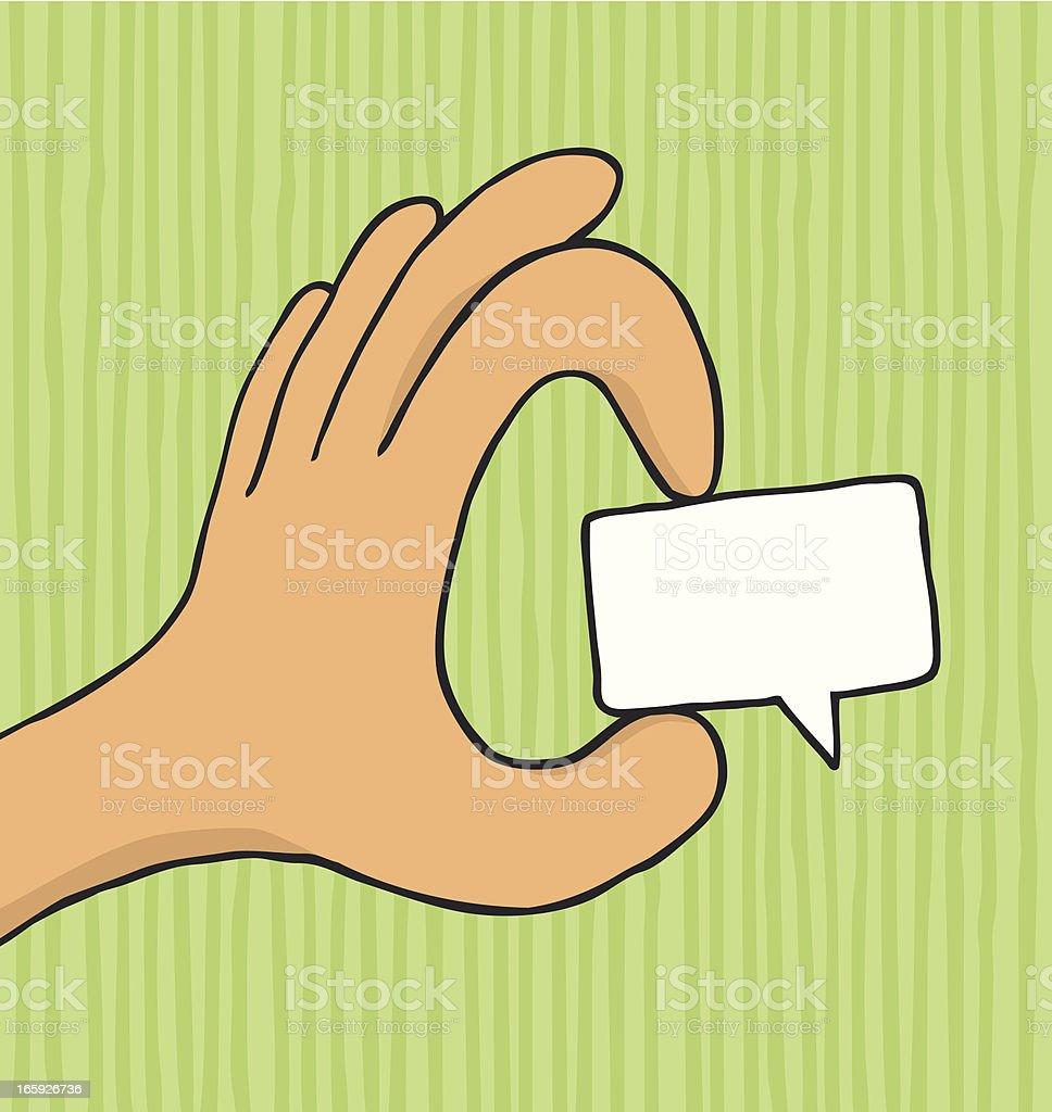 Convincing dialog / Small speech bubble royalty-free stock vector art