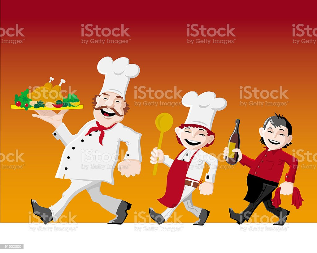 Cook crew royalty-free stock vector art