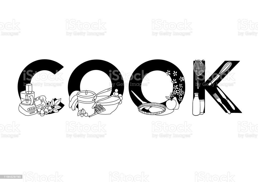 Cook - Royalty-free Appliance stock illustration