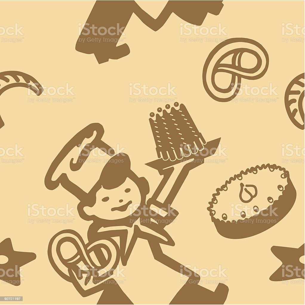 Cook with Pastry royalty-free stock vector art