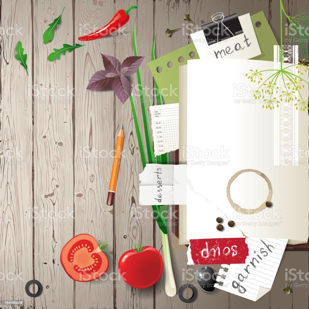 cookbook vector art illustration