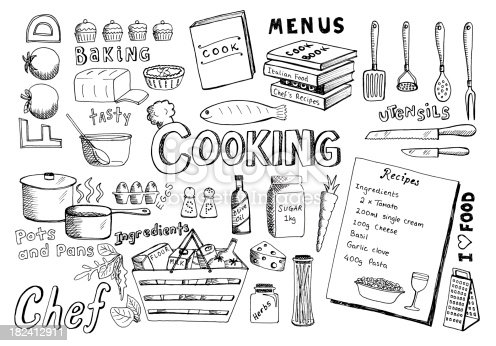 Lots of doodles associated with cooking. View my portfolio for other doodles...
