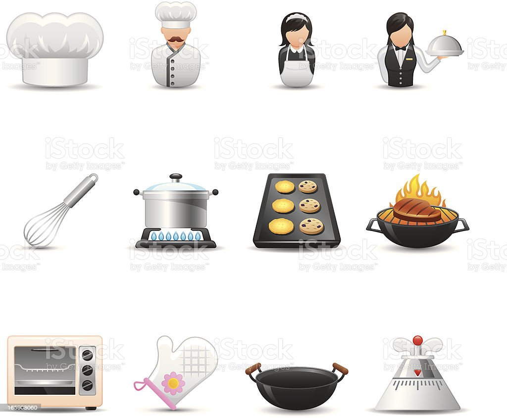 Cooking & Restaurant Icon Set| Elegant Series royalty-free stock vector art