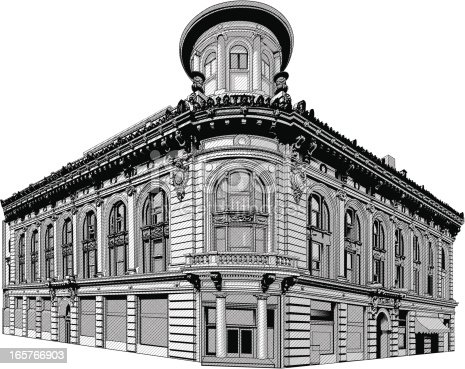 Cool architecture old building illustration