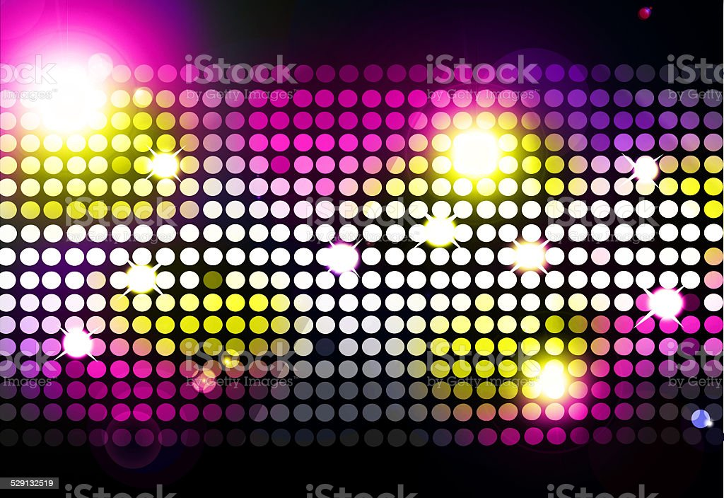 Cool disco background with colorful lights vector art illustration