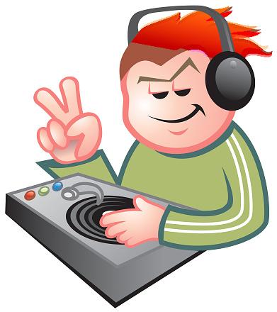 cool dj playing